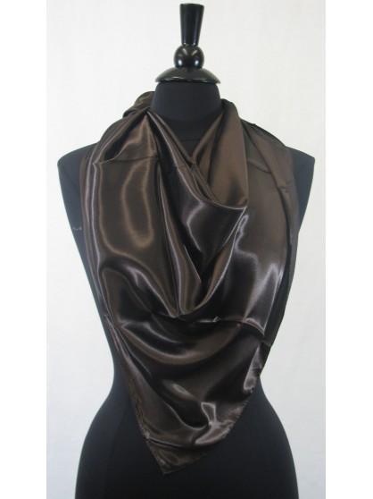 Guzel Scarf  Brown Sateen