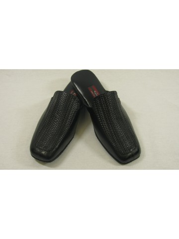 Guzel Bridal Mens Black Slipper